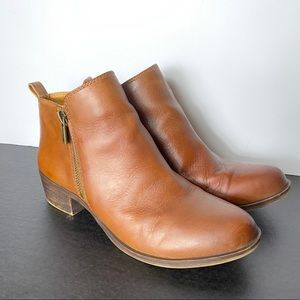 Lucky Brand Basel booties Toffee brown siz…